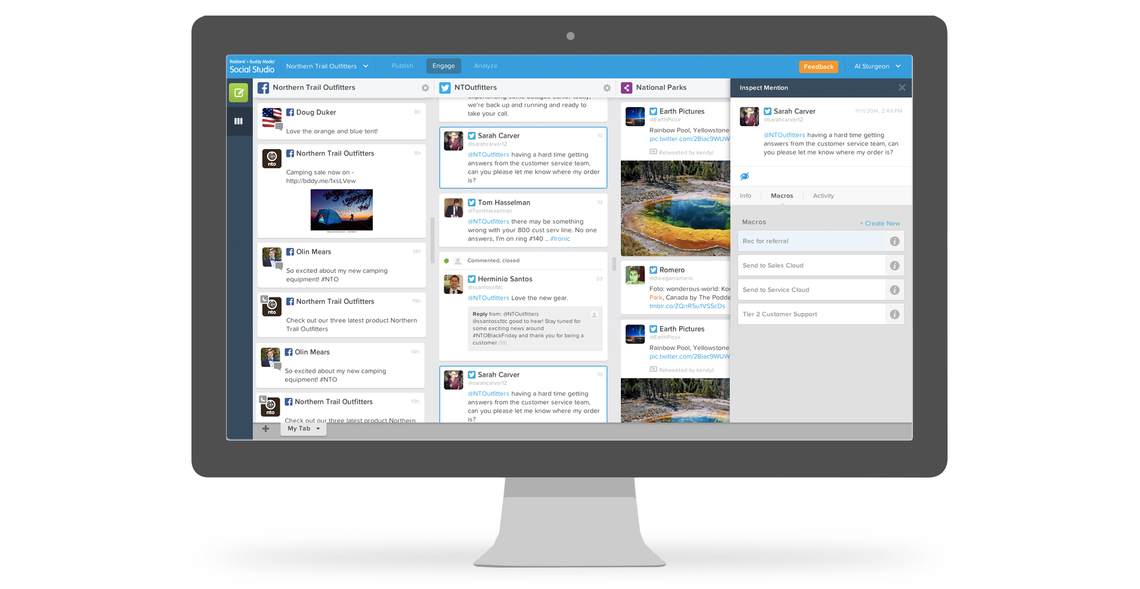 Posting on multiple channels in Social Studio