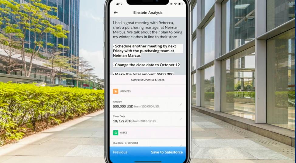 Salesforce Einstein Voice making changes