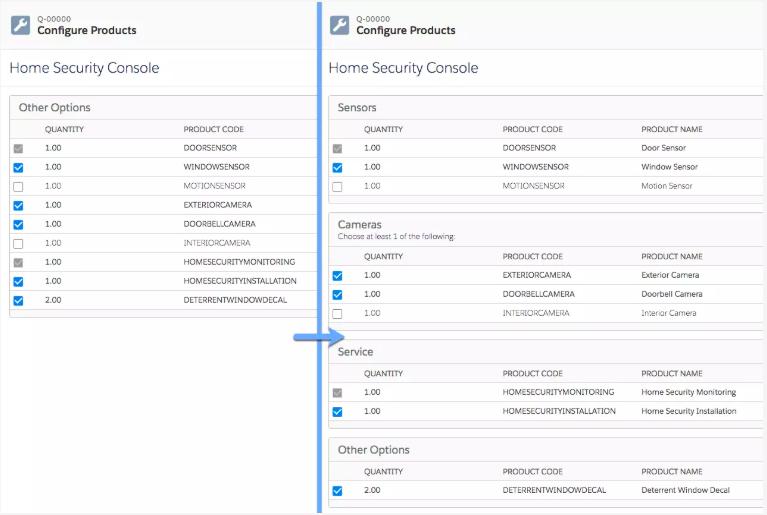 Configurable bundles in Salesforce CPQ