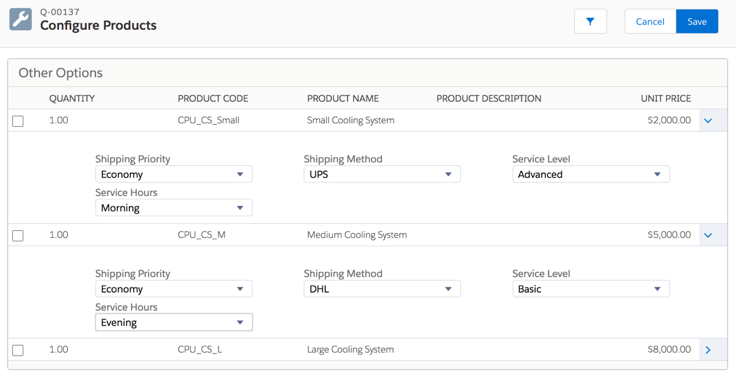Static bundles in Salesforce CPQ