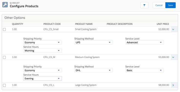 Static bundles in Salesforce CPQ
