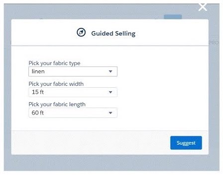 Salesforce CPQ guided selling