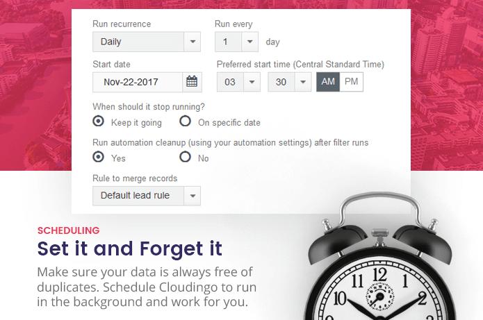 Cloudingo scheduling